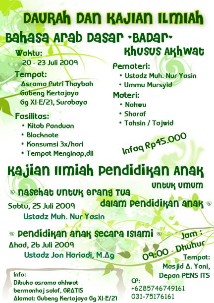 Info Daurah Akhwat Surabaya